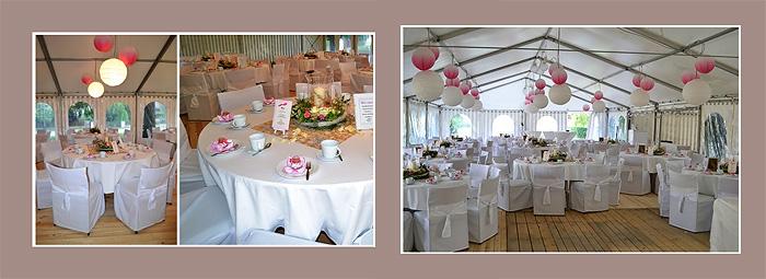 Hochzeitsdeko für runde Tische