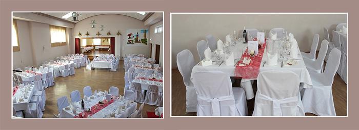 Hochzeitsdeko Tische in der Location