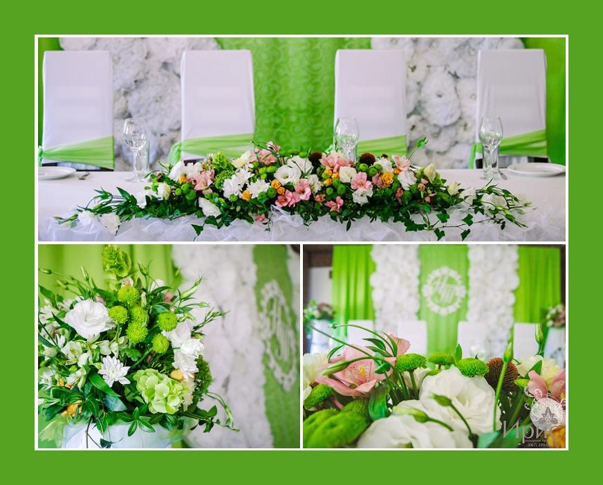 Frühling Hochzeitsdeko mit Blumen Inkalilien, Eustoma, Hortensien, Astern
