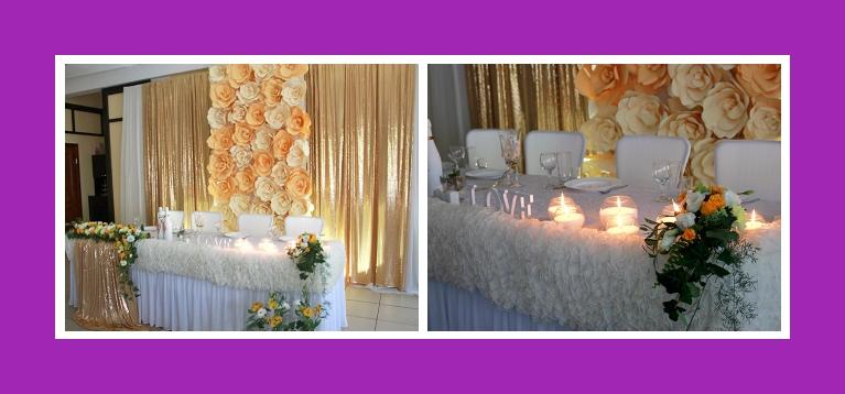 Goldene Hochzeitsdeko