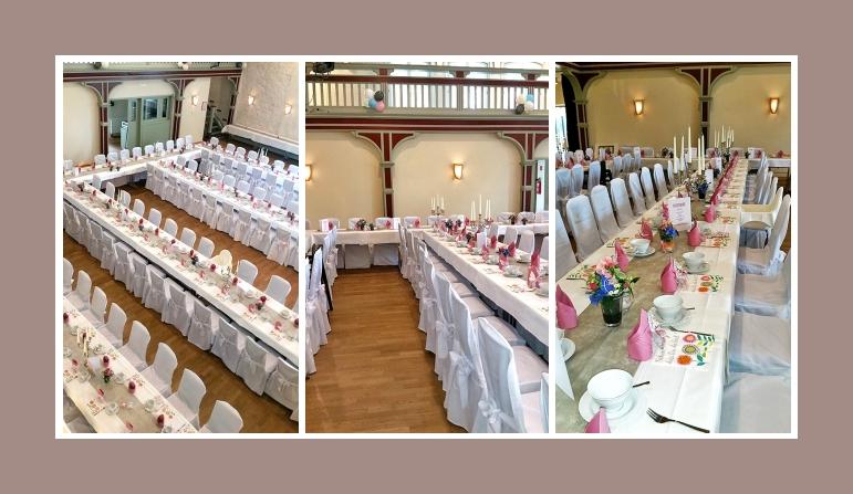 Große Hochzeit dekoriert mit Stuhlhussen Nr4