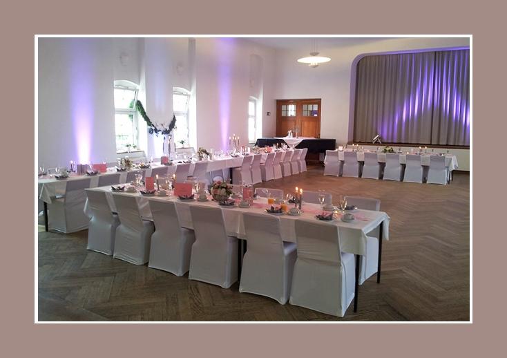 Hochzeit Dekoration mit Stretch Hussen