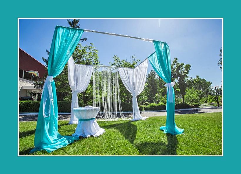 Hochzeit im Garten Dekoration