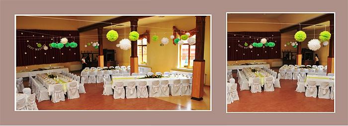 Hochzeitsdeko Hochzeitslocation Mint-Grün