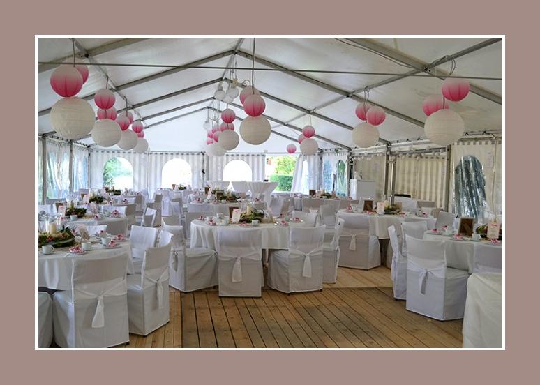Hochzeit im Zelt - Hussen Nr 1