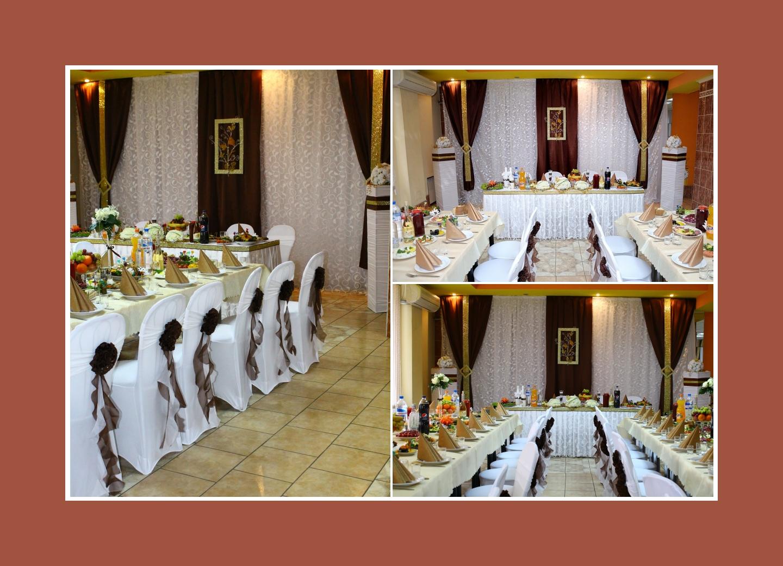 Hochzeitsdeko in Braun und Gold