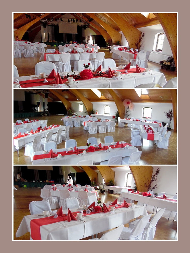 Hochzeitsdeko rot weiss