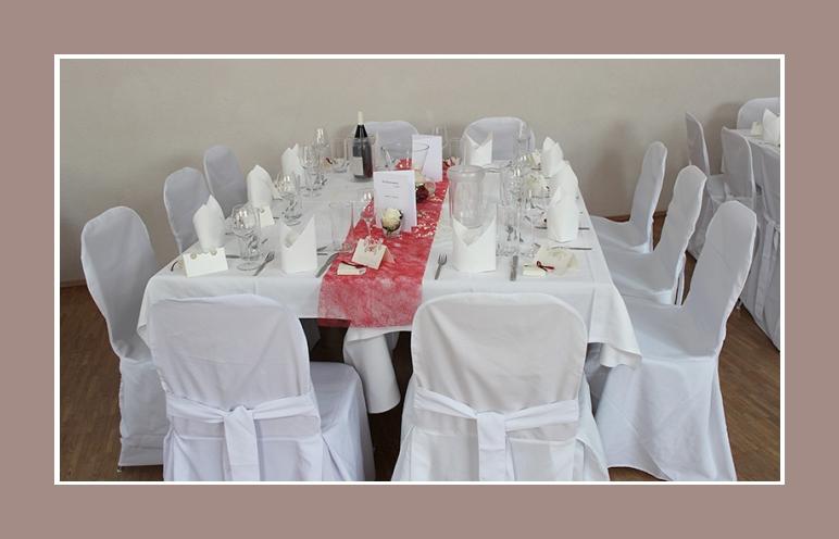 Hochzeitsdeko tisch rot weiss