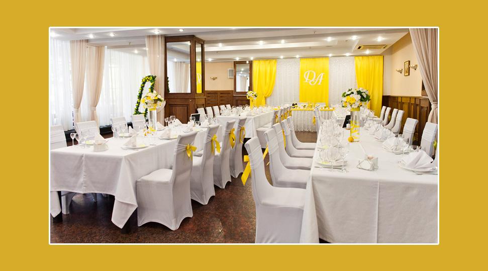Hochzeitsdekoration-gelb