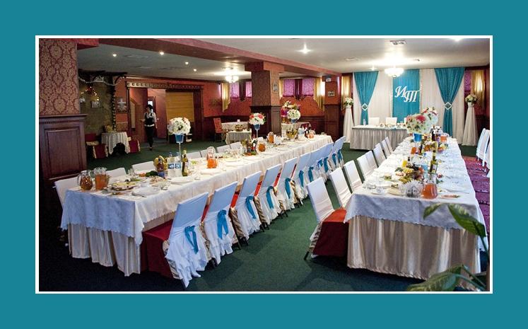 Hochzeitslocation Dekoration einer Hochzeit