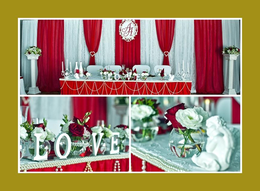 Rote Tischdeko Hochzeit2016