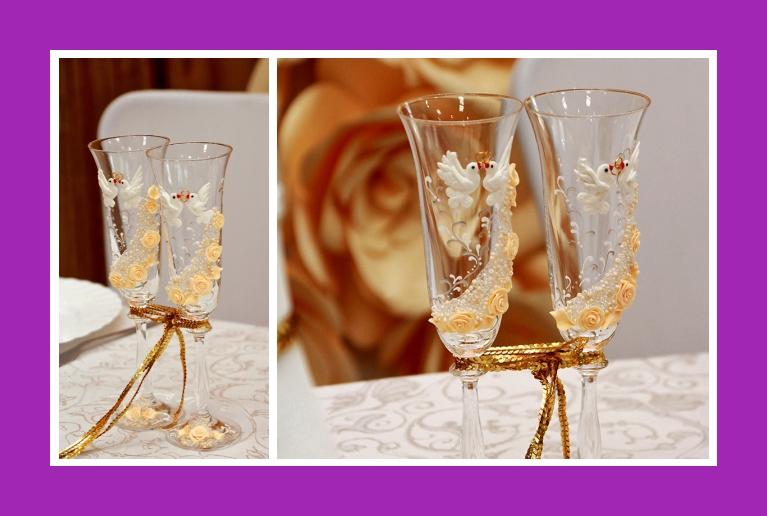 Sektglaeser Dekoration goldene Hochzeit