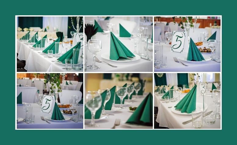 Servietten Dekoration Geburtstag Hochzeit gruen tafelspitz