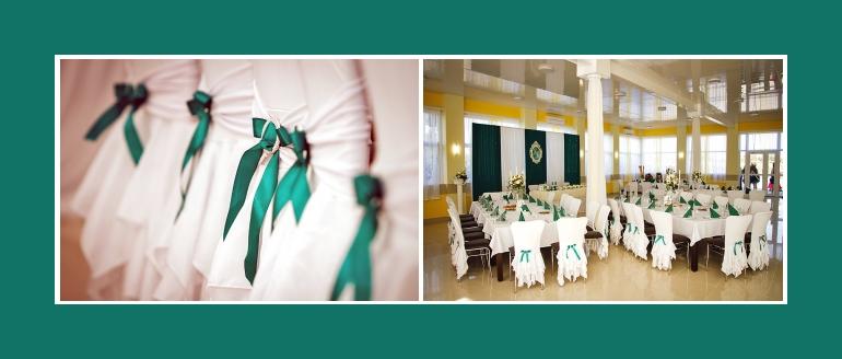 Stuhldekoration mit hussen Hochzeitslocation