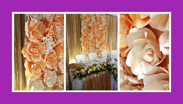 Tischdeko goldene Hochzeitsdeko Blumen