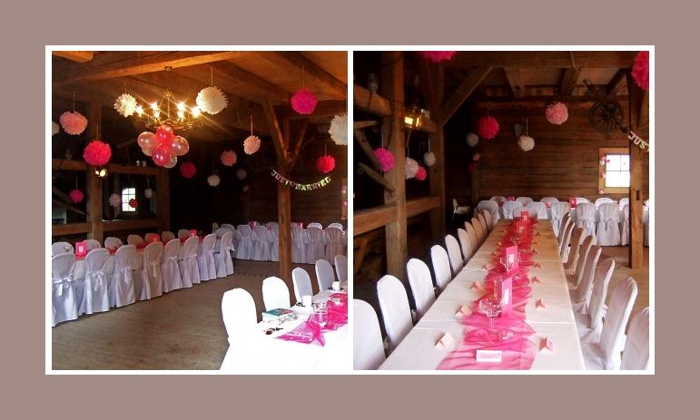 Tischdeko Hochzeit scheune