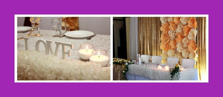 Tischdekoration mit buchstaben und kerzen Hochzeit