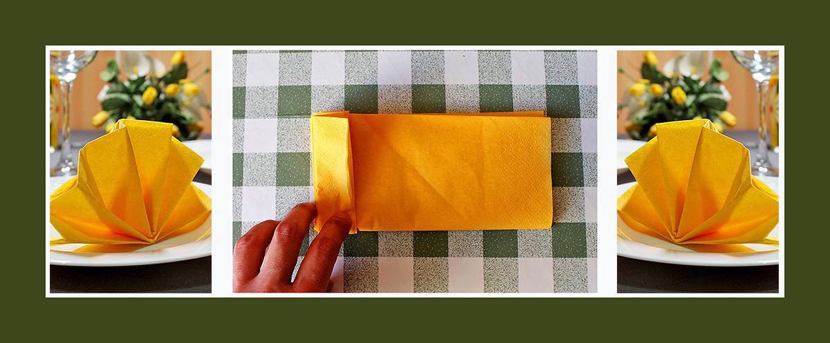 Servietten falten Fächer schnell und einfach