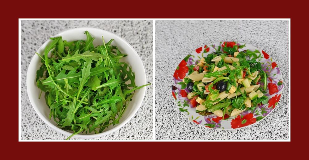 Nudelsalat mit Rucola frisch und gesund
