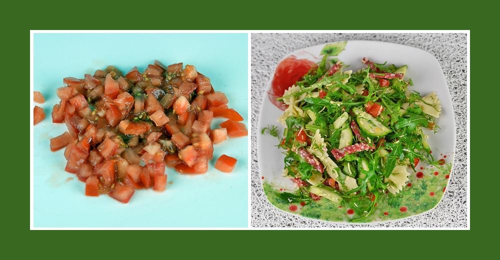 Mediterraner Nudelsalat mit frischen Tomaten