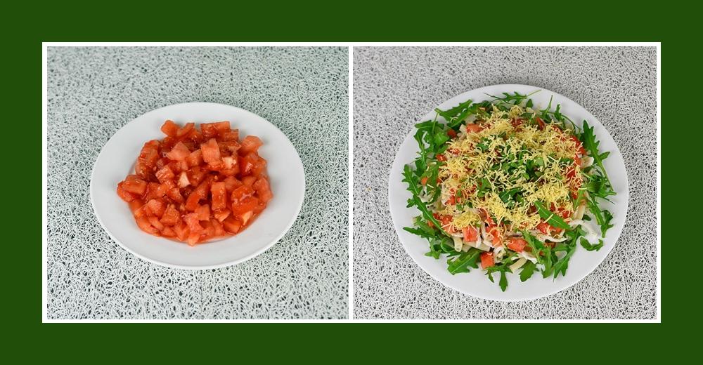 Mediterraner Salat mit Tomaten