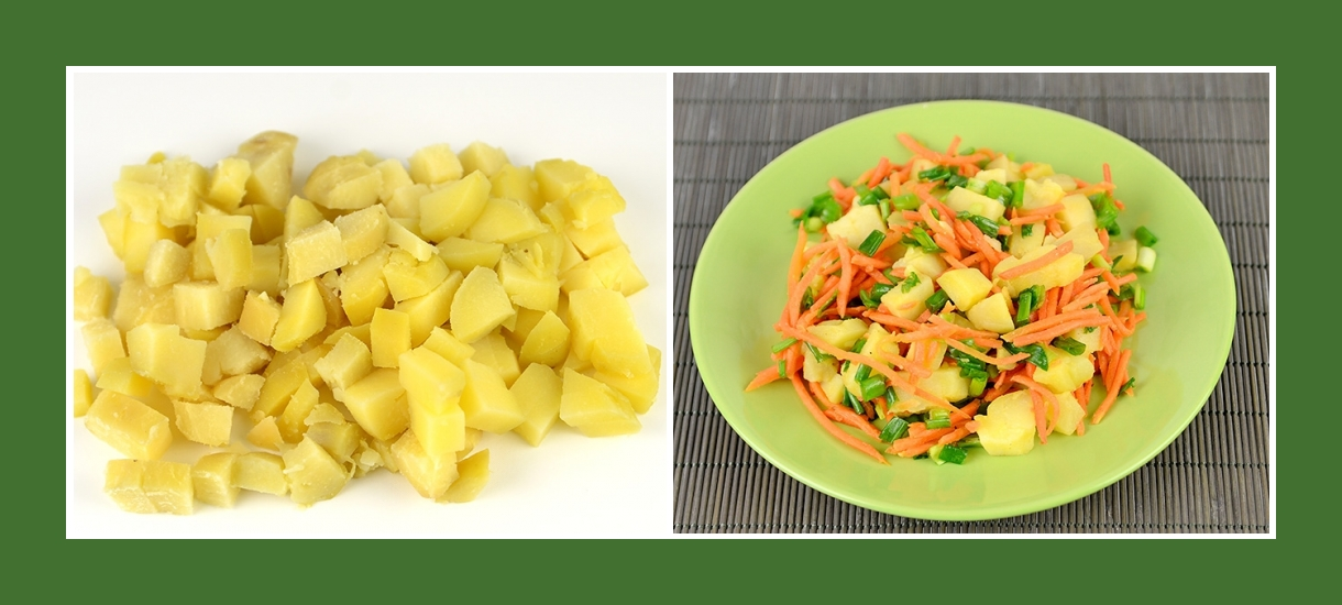 Bunter und würziger Salat aus Kochkartoffeln