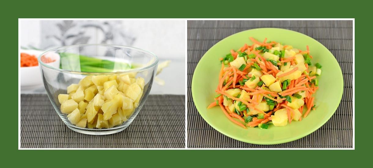 Pikanter Wintersalat mit gekochten Kartoffeln