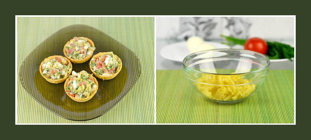 Leckere Torteletten mit Kartoffelsalat