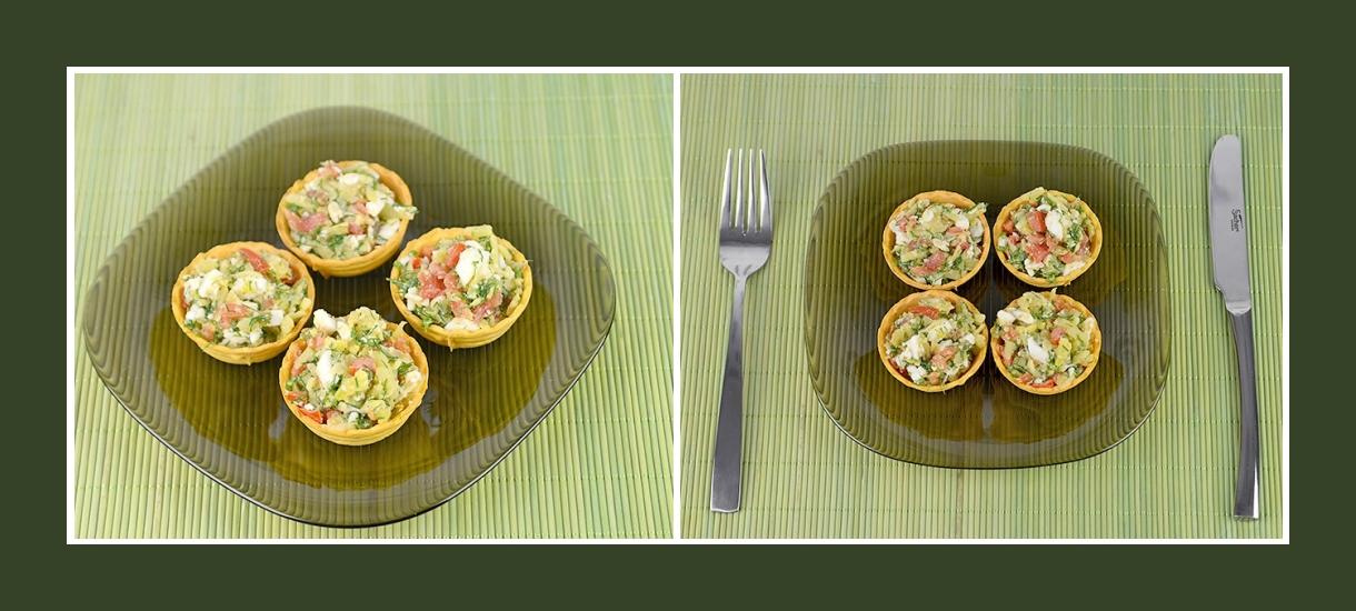 Snack zum Geburtstag und anderen Festen Torteletts mit Kartoffelsalat
