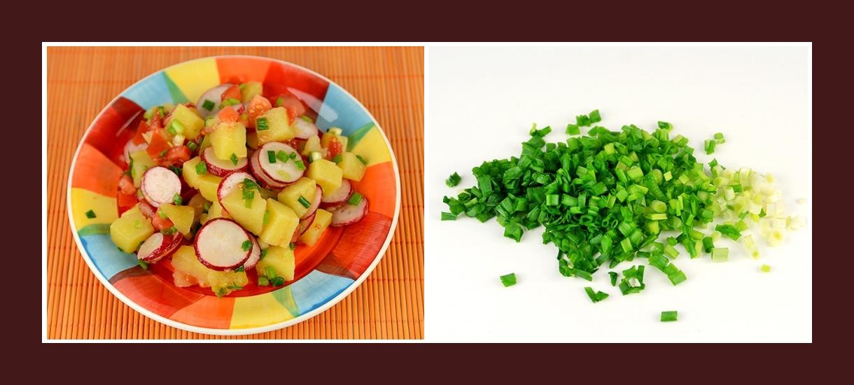 Kartoffelsalat mit pikantem Schnittlauch
