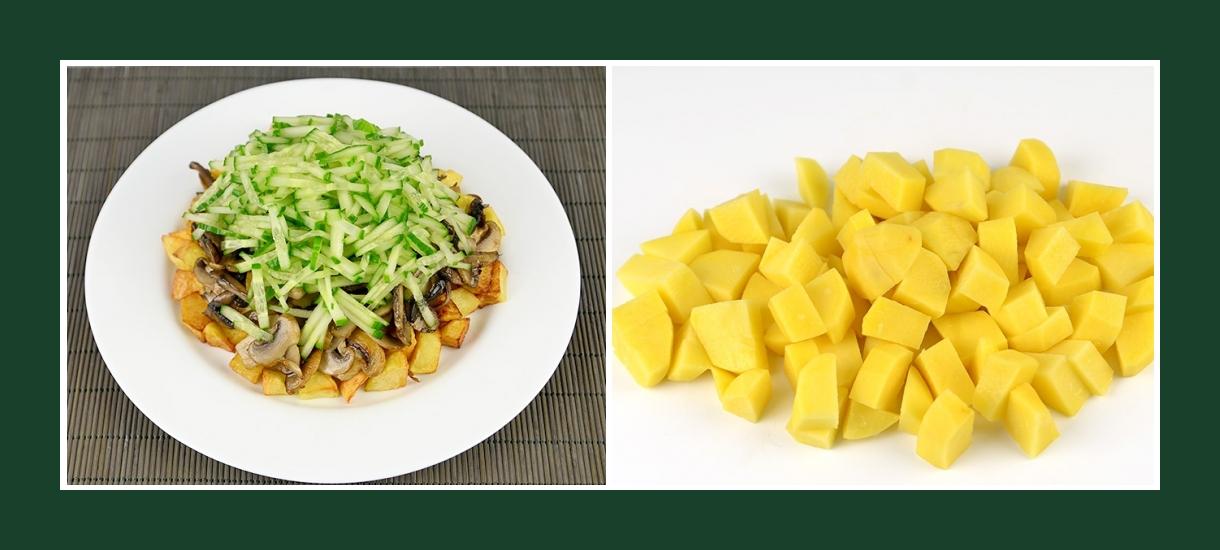 Warmer Salat mit gebratenen Kartoffeln