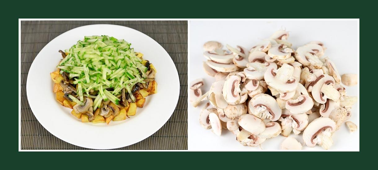 Warmer Salat mit Champignons