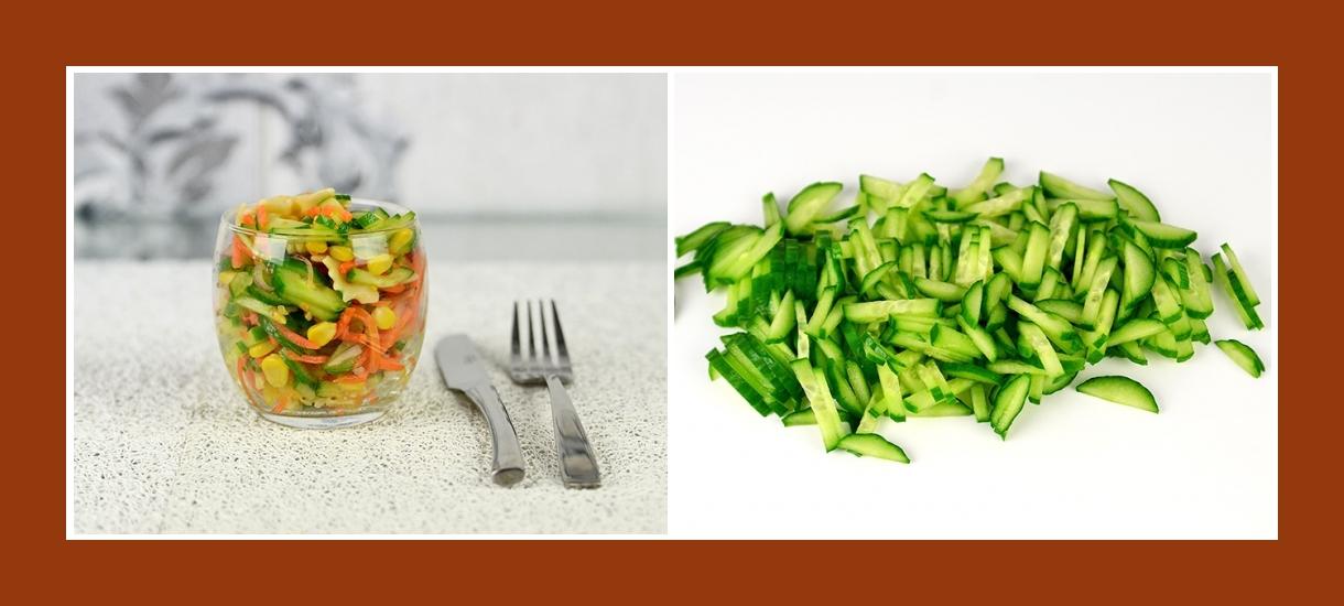 Nudelsalat mit frischen Gurken