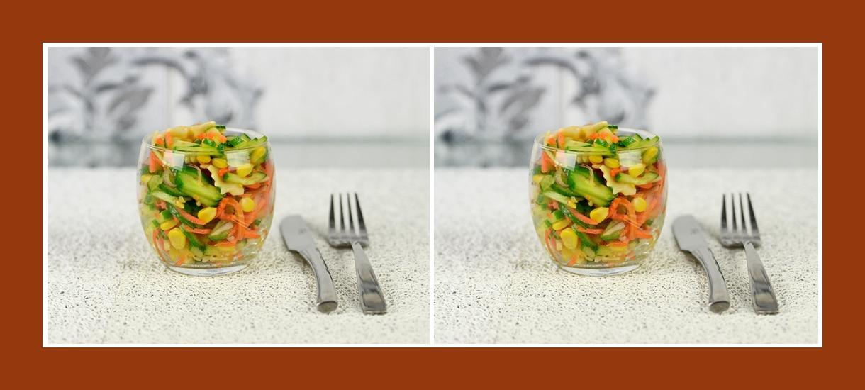 Bunter Nudelsalat mit pikantem Gemüse zum Geburtstag und anderen Festen
