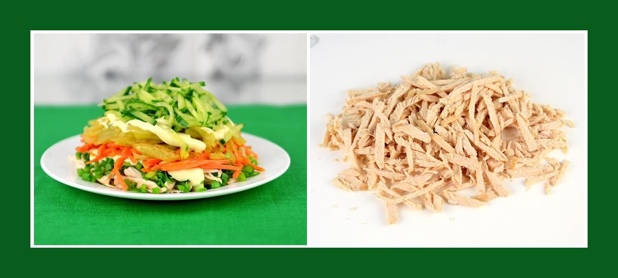 Kartoffelsalat mit Hähnchen Filet