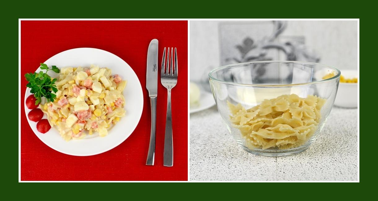 Zarter Salat mit Farfalle Pasta