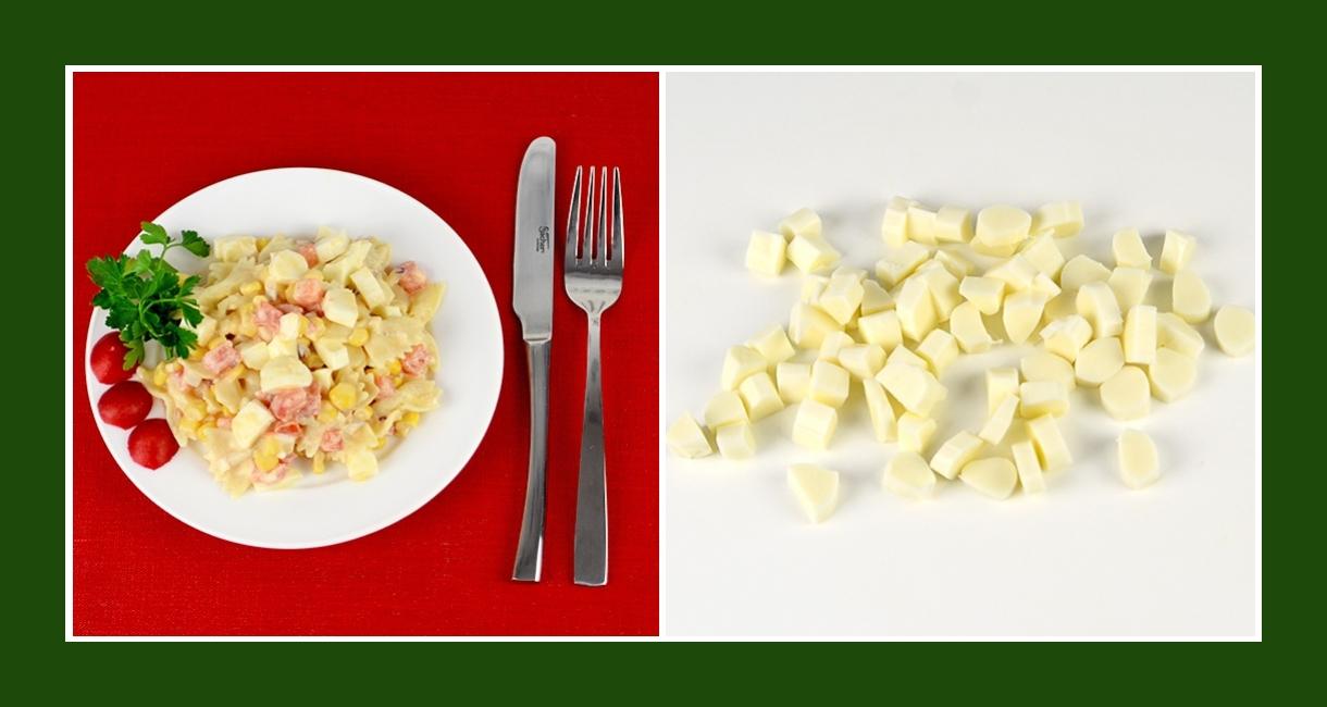 Erfrischender Nudelsalat mit Salzlakenkäse