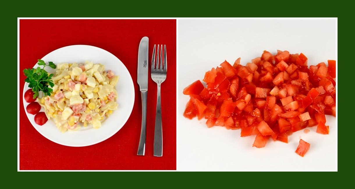Leckerer Nudelsalat mit Tomaten