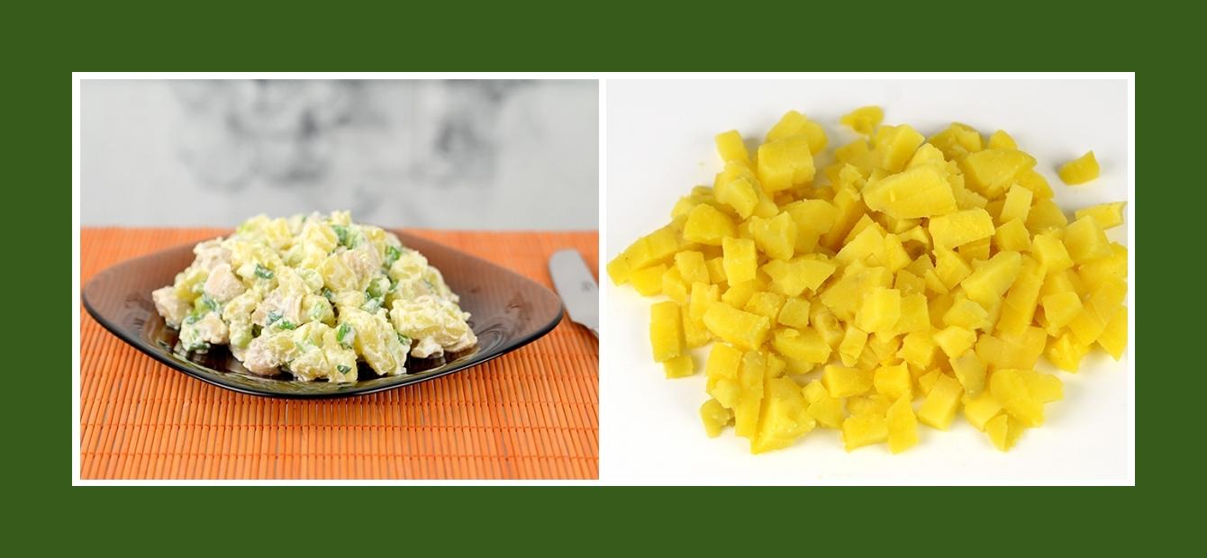 Frühlingssalat mit Frühkartoffeln oder Kochkartoffeln