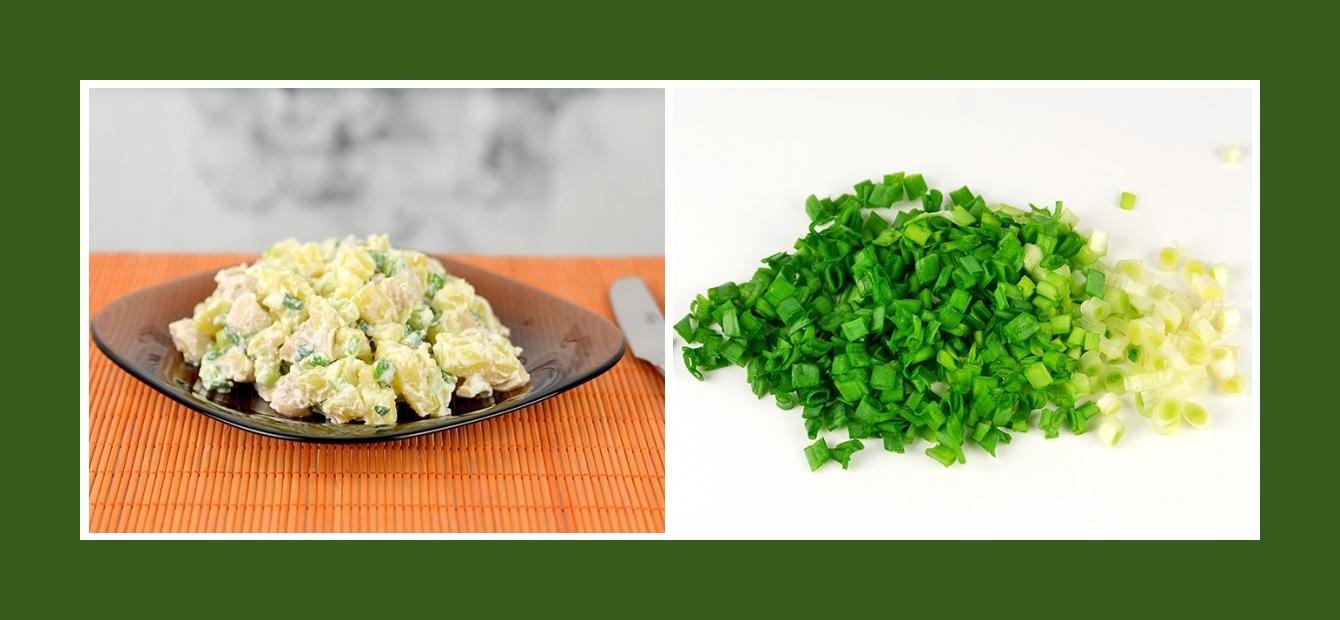 Einfacher Salat mit pikantem Schnittlauch