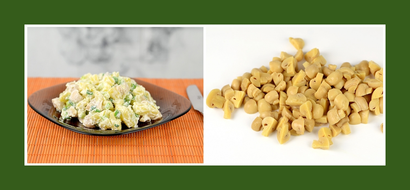 Kartoffelsalat mit marinierten Champignons