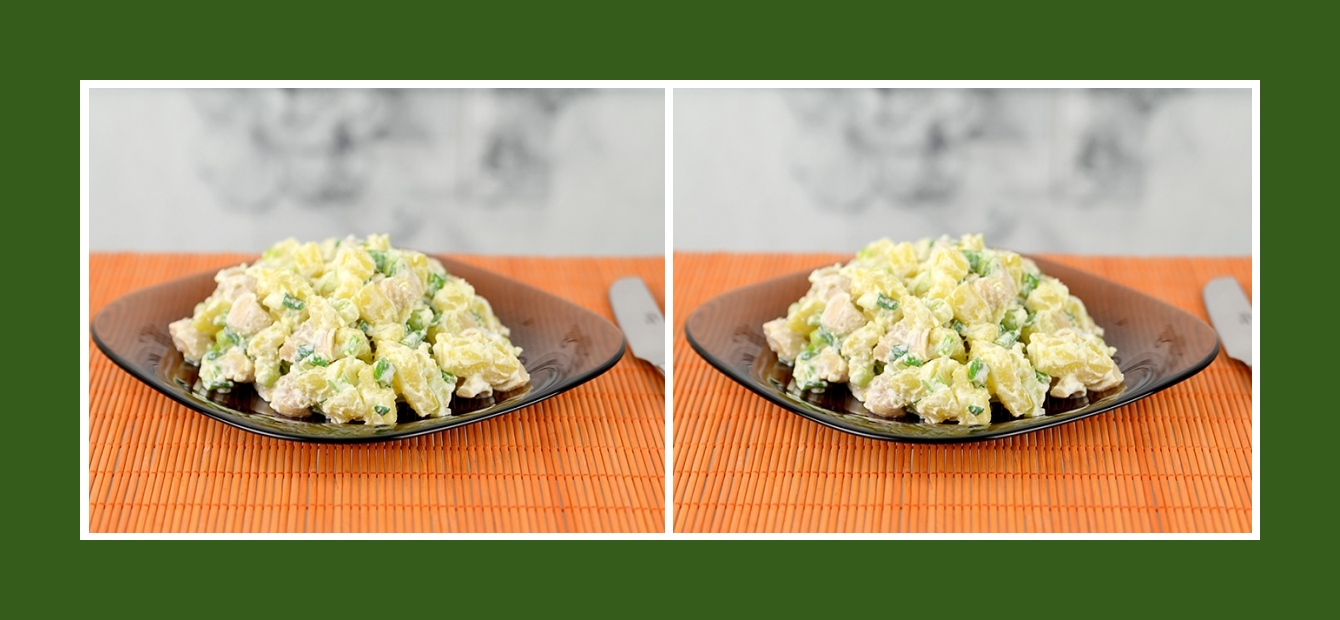 Einfacher und genussvoller Kartoffelsalat mit marinierten Champignons