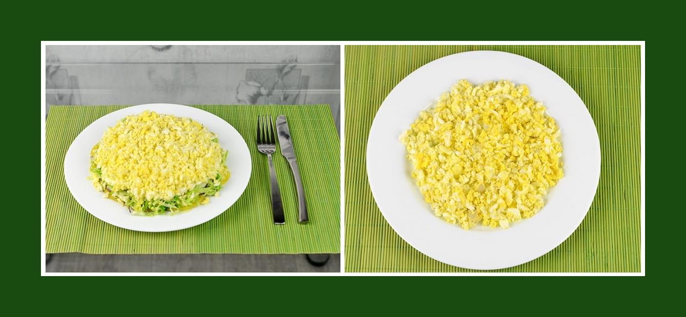 Frühlingssalat Schichtsalat mit Eiern
