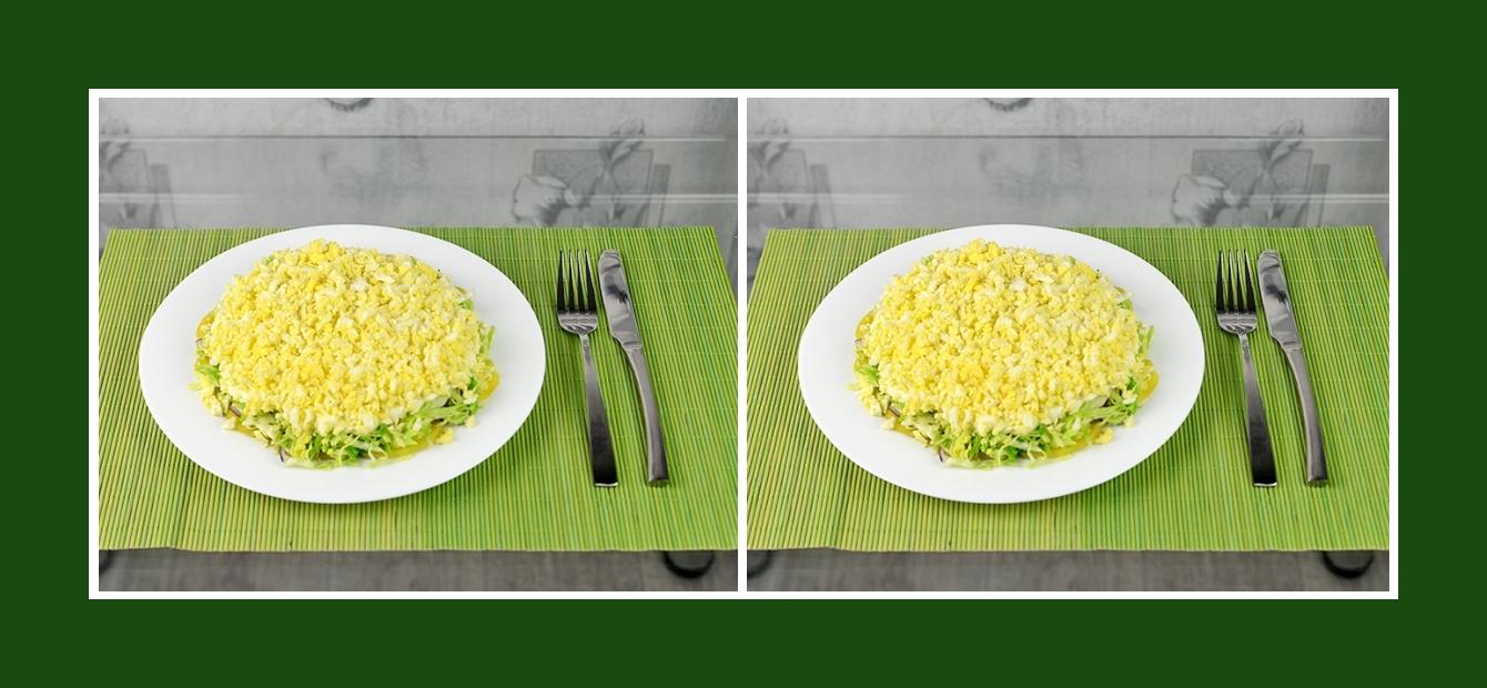 Gesunder und satter Kartoffelsalat mit Frühlingsgemüse und Eiern