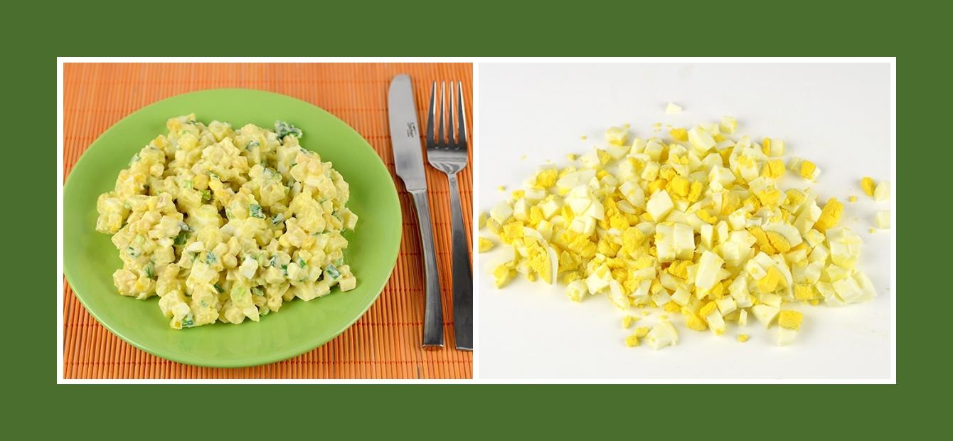 Nahrhafter Kartoffelsalat mit Eiern