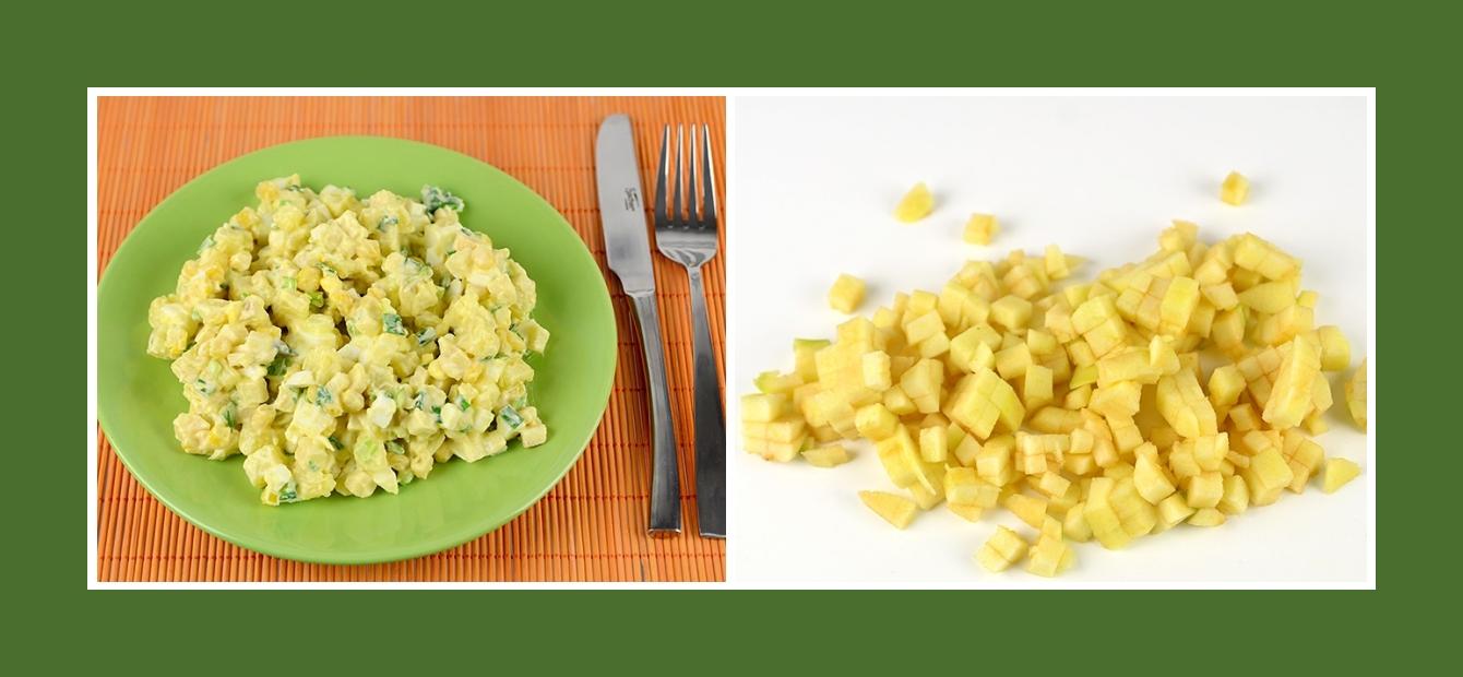 Zarter Kartoffesalat mit Äpfeln