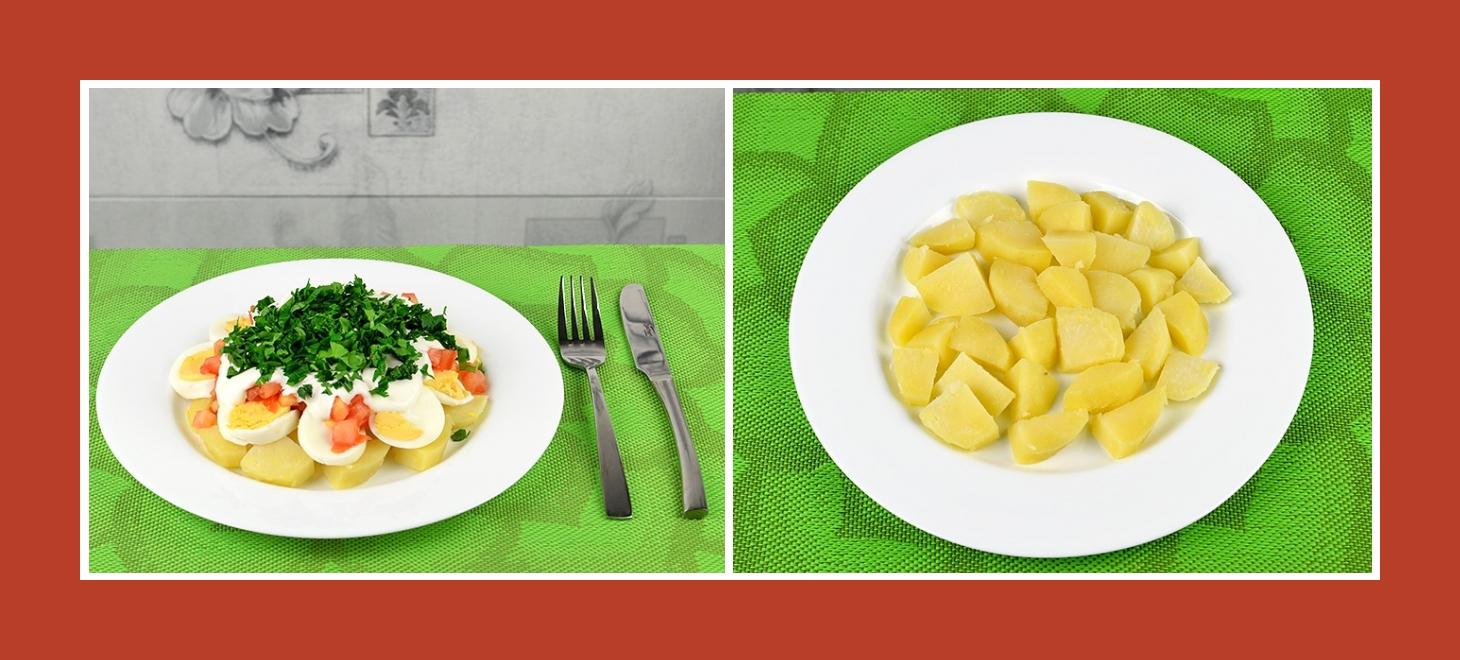 Schnell und einfach Salat aus Kochkartoffeln zubereiten