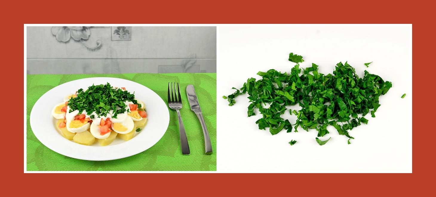 Zarter Kartoffesalat mit pikanter Petersilie