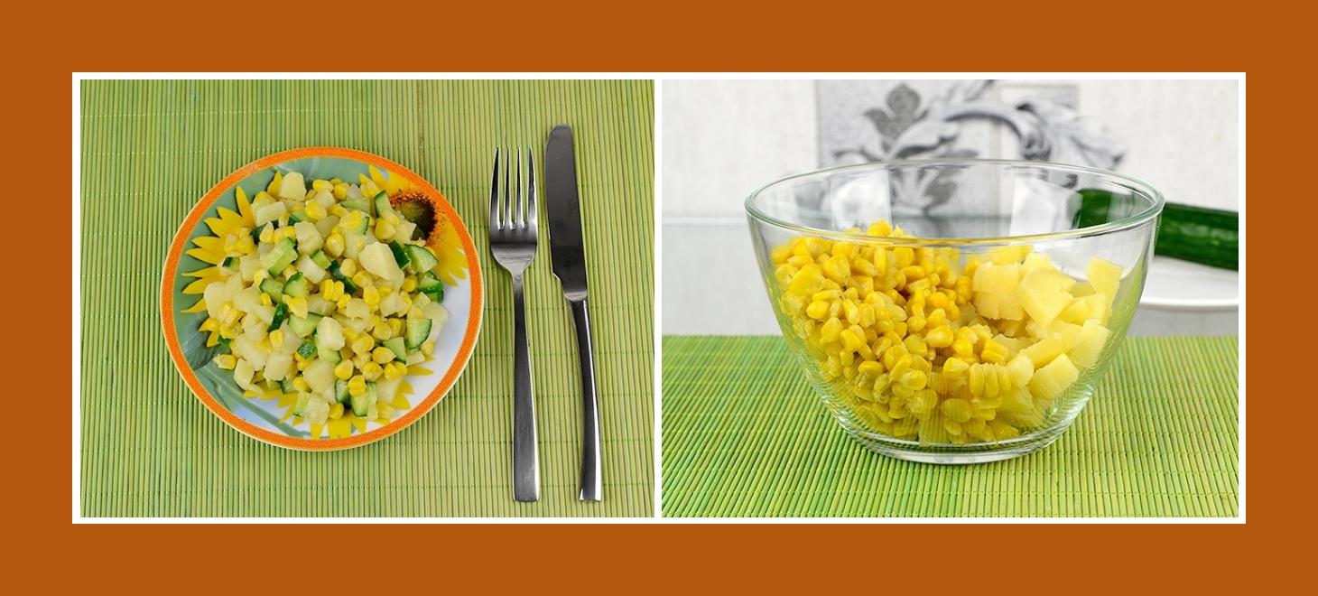 Simpler Kartoffelsalat mit Dosenmais