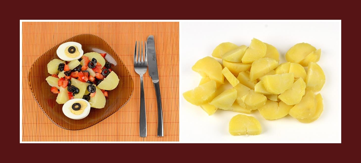 Einfacher mediterraner Salat mit Kartoffeln